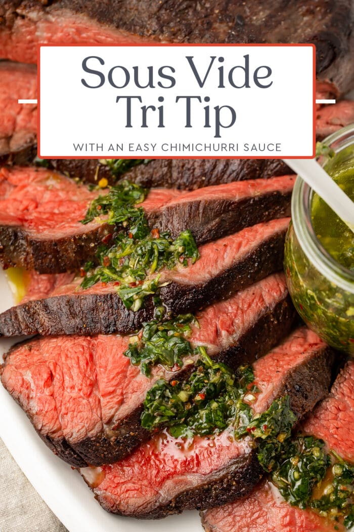 Pin graphic for sous vide tri tip