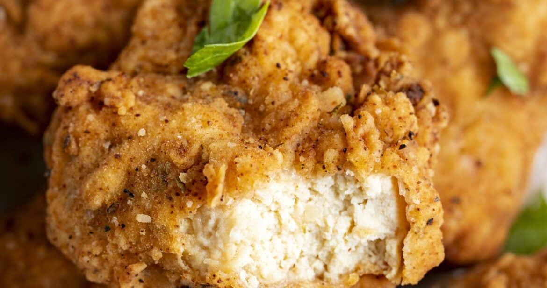 Vegan fried chicken made from tofu