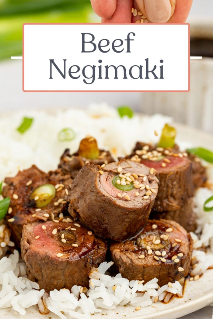 Pin graphic for beef negimaki