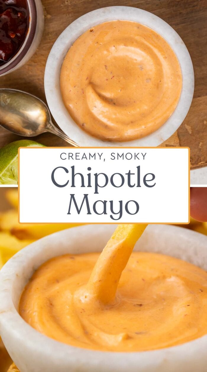 Pin graphic for chipotle mayo