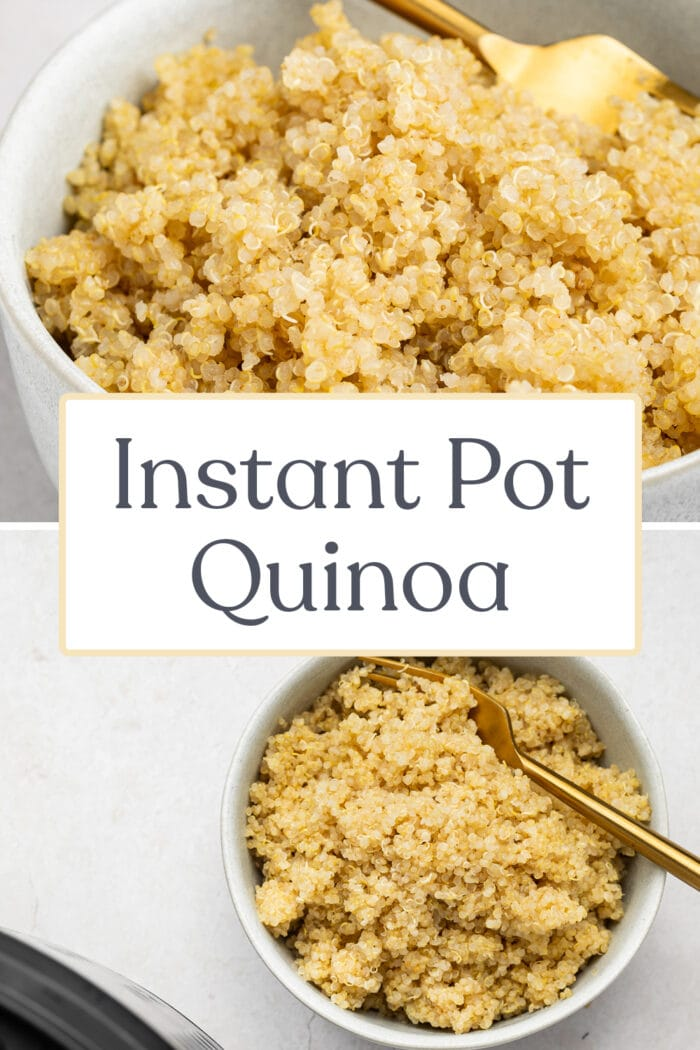Pin graphic for Instant Pot quinoa