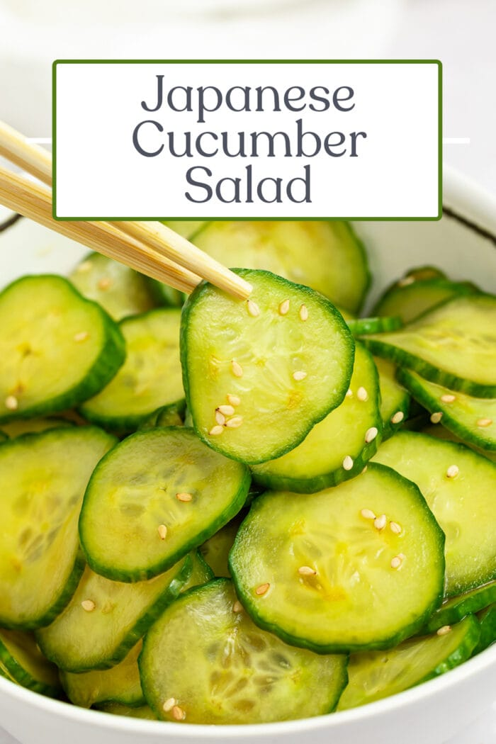 Pin graphic for Japanese cucumber salad