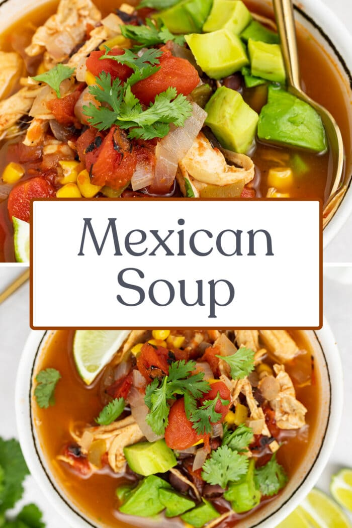 Pin graphic for Mexican soup