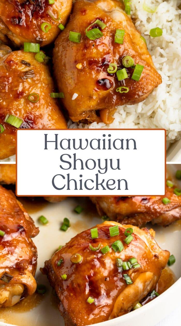 Pin graphic for shoyu chicken