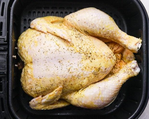 air fryer whole chicken step 2