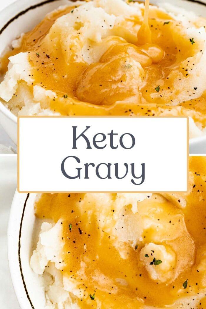 Pin graphic for keto gravy