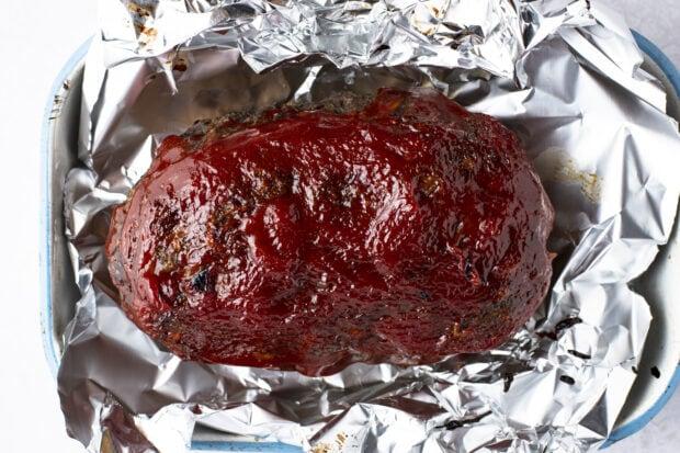 Slow cooker meatloaf in foil