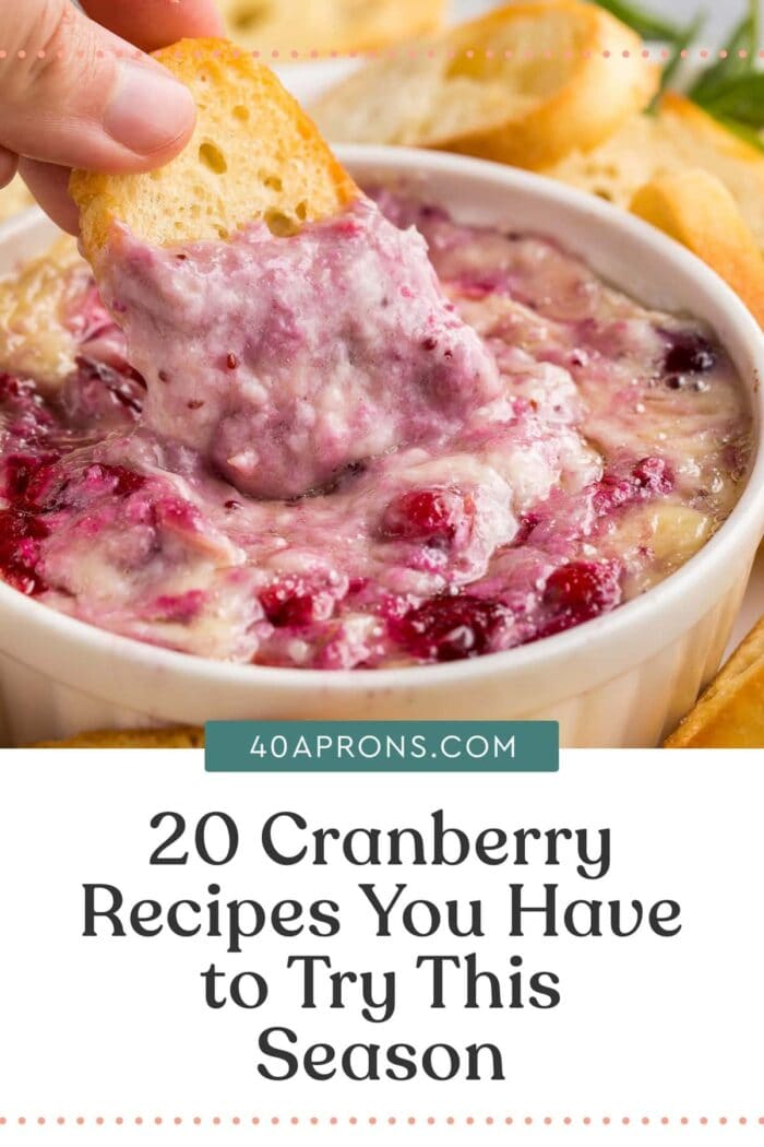 Pin graphic for cranberry recipes roundup
