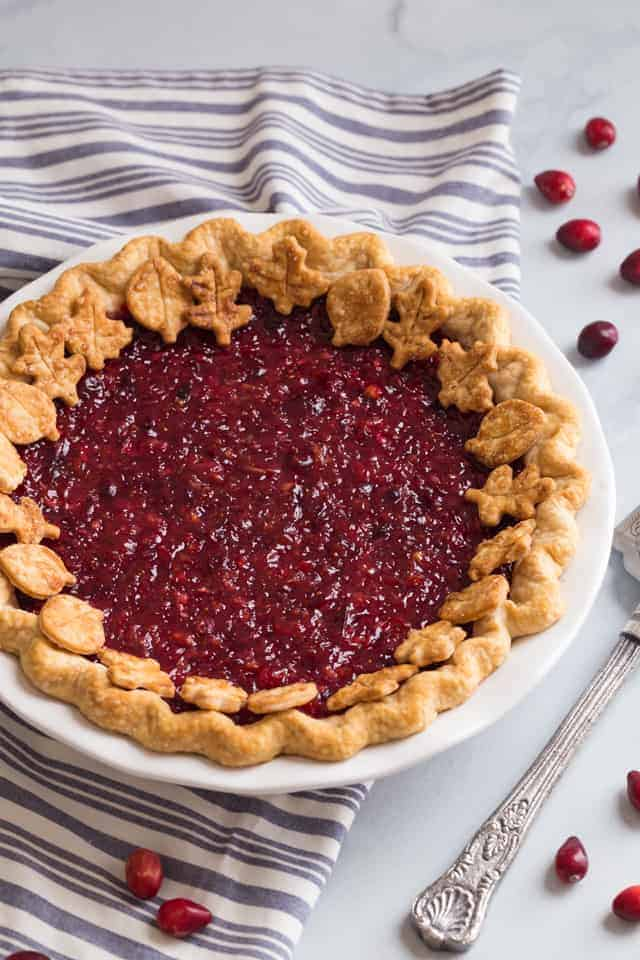 Cranberry pie from Baked by an Introvert