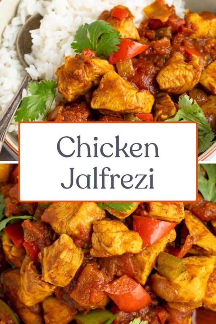 Pin graphic for chicken jalfrezi