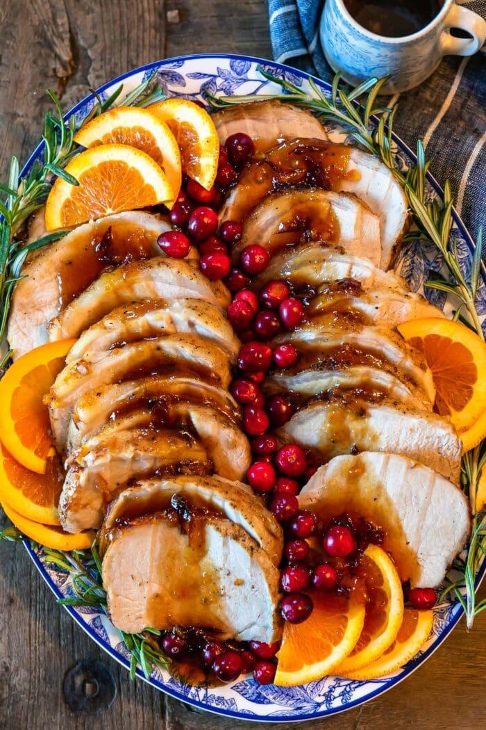Orange Cranberry Pork Loin Roast Recipe from The Cookie Rookie