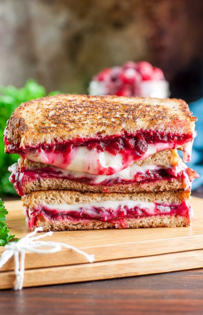 Cranberry pecan grilled cheese from Peas and Crayons