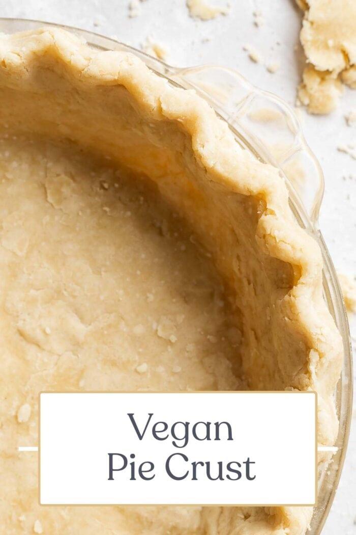 Pin graphic for vegan pie crust